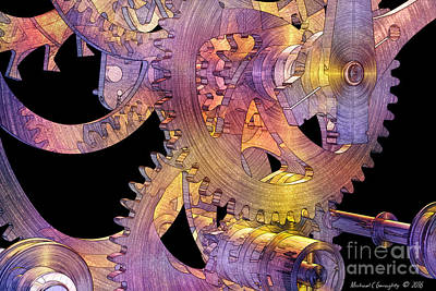 Time Mechanics V2a Poster by Michael Geraghty