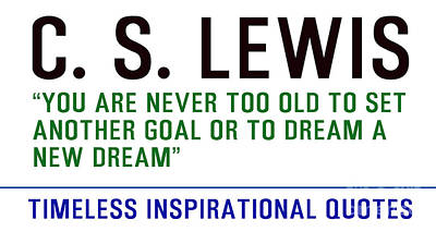 Timeless Inspirational Quotes - C S Lewis Poster
