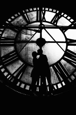 Poster featuring the photograph Timeless Love - Black And White by Marianna Mills