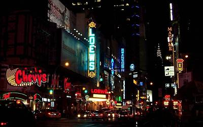 Times Square Poster by Bruce Lennon