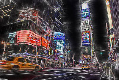 Times Square Night Poster by Joachim G Pinkawa