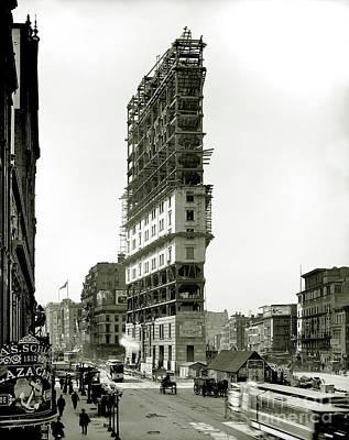 Times Square Under Construction Poster by Jon Neidert