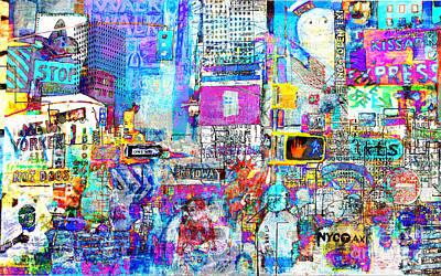 Times Square V Poster