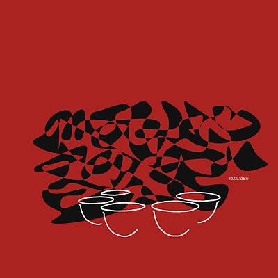 Timpani In Orange Red Poster by David Bridburg