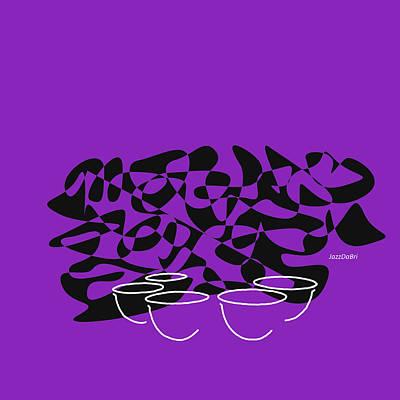 Timpani In Purple Poster by David Bridburg
