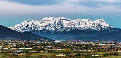 Timpanogos And The Heber Valley 2 Poster by TL Mair