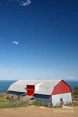 Tin Barn, La Malbaie Poster by Jane Rix