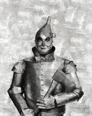 Tin Man From The Wizard Of Oz By Mary Bassett Poster by Mary Bassett
