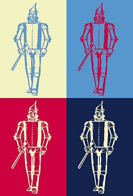 Tin Man Pop Art Poster Poster