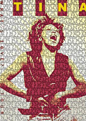 Tina Turner - Digital Graphic Poster Poster