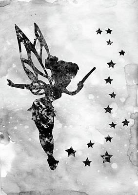 Tinker Bell-black  Poster