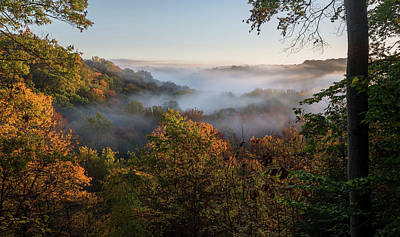 Poster featuring the photograph Tinkers Creek Gorge Overlook by Dale Kincaid