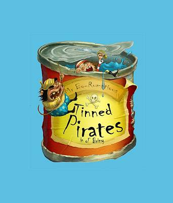 Tinned Pirates Poster by Andy Catling