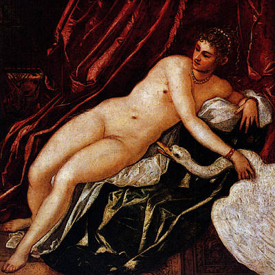 Tintoretto Leda And The Swan Poster