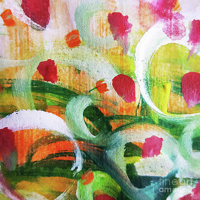 Tiny Tulip..  Watercolour Painting Poster