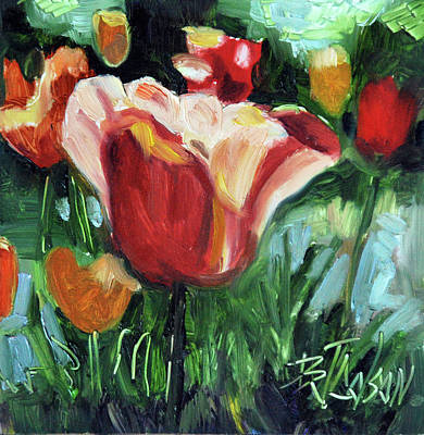 Poster featuring the painting Tip Toe Thru The Tulips by Billie Colson