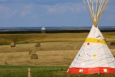 Poster featuring the photograph Tipi On The High Plains by Kate Purdy