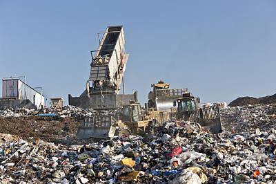 Tipper At Landfill Poster