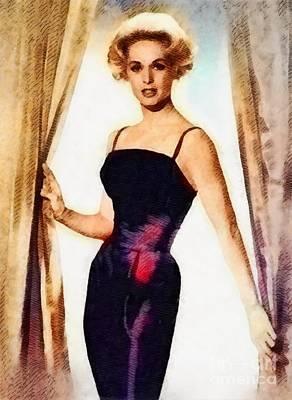 Tippi Hedren, Vintage Actress By John Springfield Poster