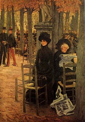 Tissot James Jacques Without A Dowry Aka Sunday In The Luxembourg Gardens Poster