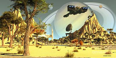 Titan Spaceport Poster