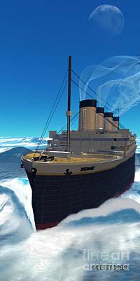 Titanic Cruiseship Poster by Corey Ford