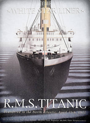 Titanic Poster by Donna Kennedy