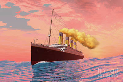 Titanic Passenger Liner Poster by Corey Ford
