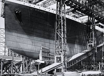 Titanic's Bow In The Gantry Poster