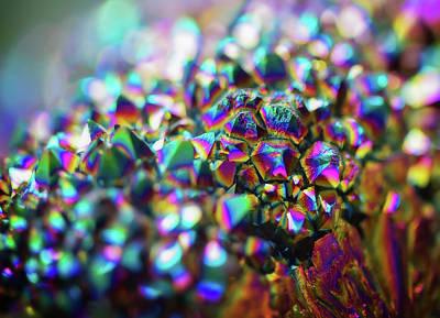 Titanium Rainbow Quartz Cluster Close Up #1 Poster