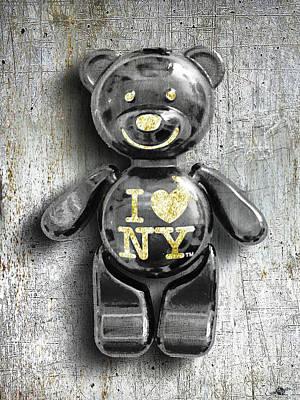 Titanium Teddy Poster by Tony Rubino