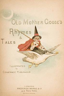 Title Page Illustration From Old Mother Poster by Vintage Design Pics