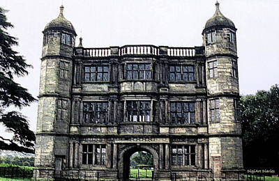 Tixall Gatehouse Circa 1580 Poster by DigiArt Diaries by Vicky B Fuller