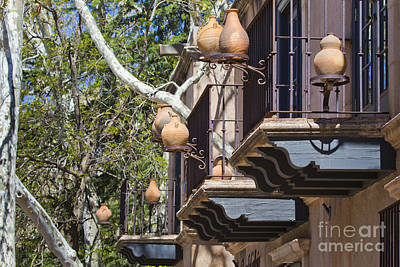 Poster featuring the photograph Tlaquepaque Balconies by Chris Dutton