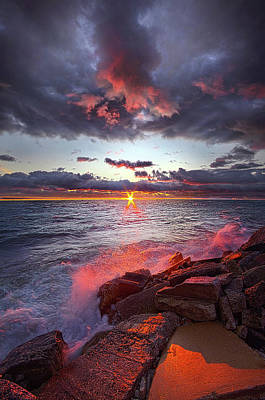 To Be True As The Tide Poster by Phil Koch