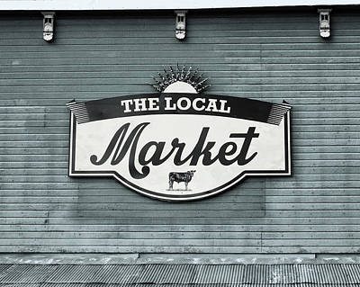 To The Market -in Blue Poster by Alison Sherrow I AgedPage
