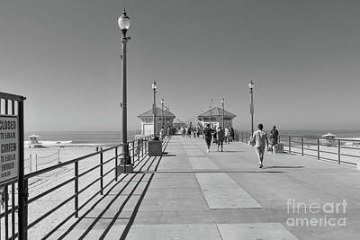 Poster featuring the photograph To The Sea On Huntington Beach Pier by Ana V Ramirez