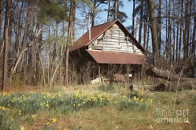 Poster featuring the photograph Tobacco Barn In Spring by Benanne Stiens