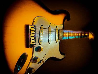 Tobacco Burst Stratocaster Glow Neck Series Poster