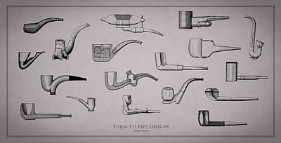 Tobacco Pipe Designs 1900-30 Poster