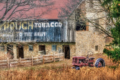 Tobacco Tractor Poster by Lori Deiter