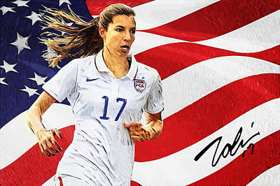Tobin Heath Poster by Taylan Apukovska