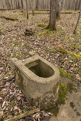 Toilet Remains 1 E Poster by John Brueske