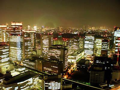 Tokyo Skyline Poster by Nancy Ingersoll