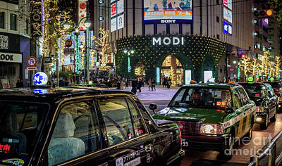 Tokyo Taxis, Japan Poster