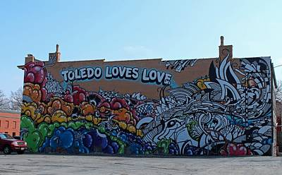 Poster featuring the photograph Toledo Loves Love by Michiale Schneider