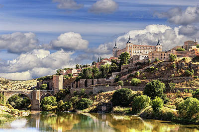 Toledo. Majestic Stone Fortress The Alcazar Is Visible From Any Part Of The City Poster