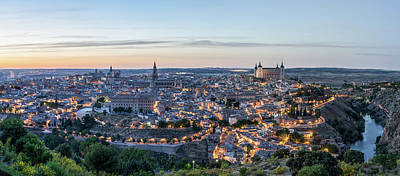 Toledo Spain Evening Sunset Poster by Chensiyuan