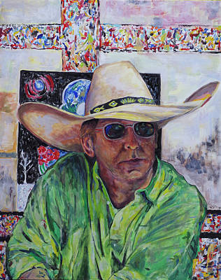 Toller Cranston In Cowboy Hat Poster by Andrew Osta