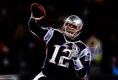 Tom Brady - New England Patriots Poster by Paul Ward